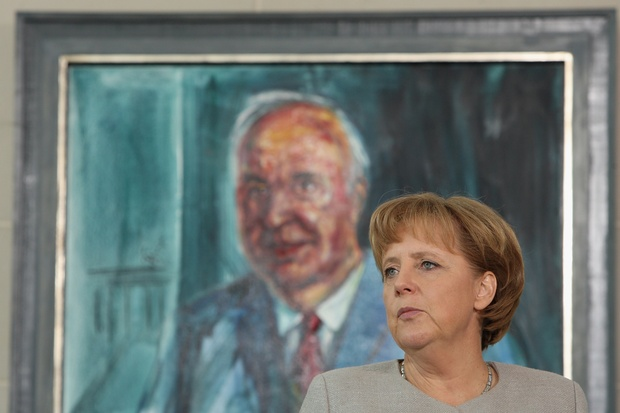 angela-merkel helmut-kohl macht